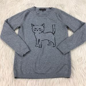 Banana Republic Cat Crew Neck Sweater
